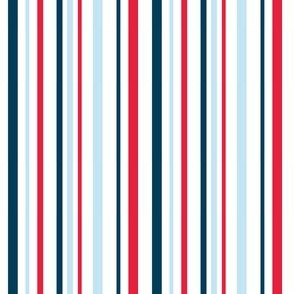 Red, White, Blue Patriotic Stripes for USA 4th of July
