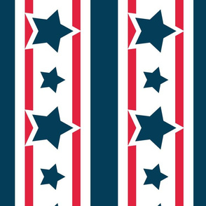 Stars and Stripes for Patriotic Flag Bunting 4th of July