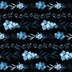 Forget me not black pattern horizontal 2