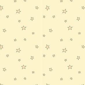 Mini stars, yellow and gold