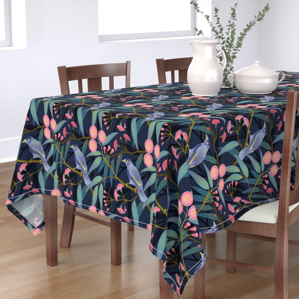 Bantam Rectangular Tablecloth featuring Eucalyptus flowers by julia_gosteva