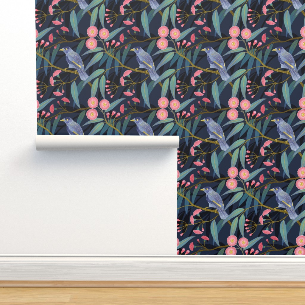 Isobar Durable Wallpaper featuring Eucalyptus flowers by julia_gosteva