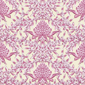 Waratah and Wattle Damask