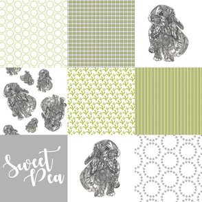 Sweet Pea - Bunny Cheater Quilt Green