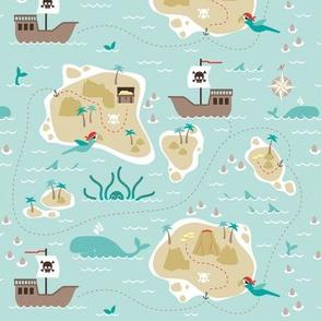 Pirate treasure map - small