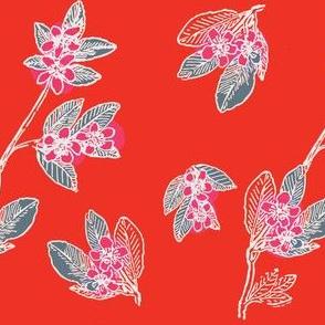Asian blossom pattern