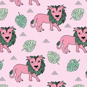 King of the jungle kids wild jungle summer mint green pink girls