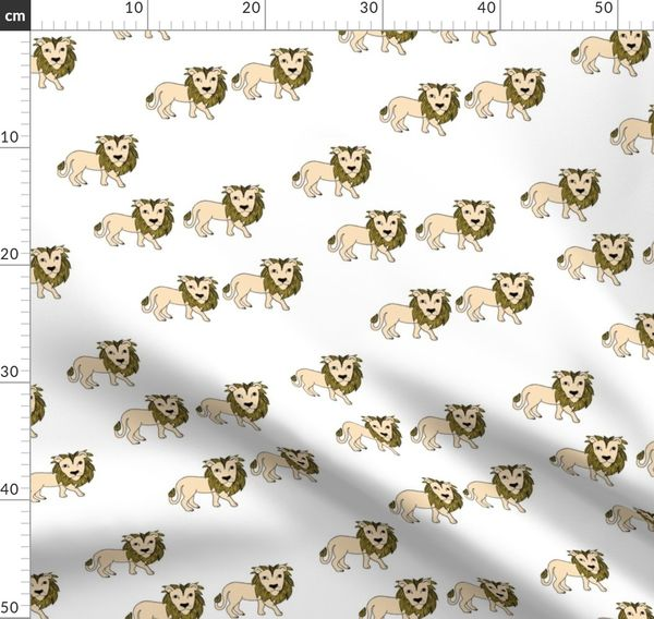 King Of The Jungle Wild Cat Lion Friends Spoonflower