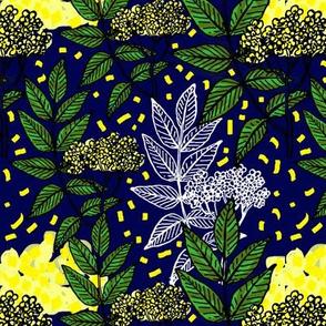 Yellow tea blue