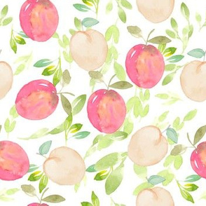Peach Passion in Watercolor