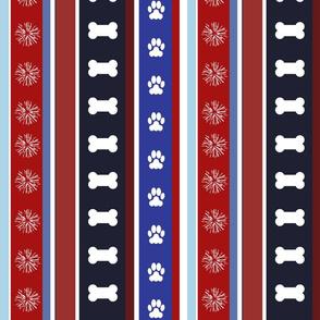 Dog Stripes 4th of July_Medium Scale