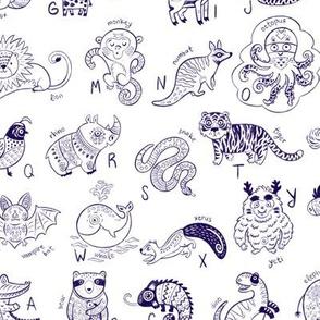 Contour Animals Alphabet
