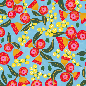 Australian Wattle & Gum Blossom