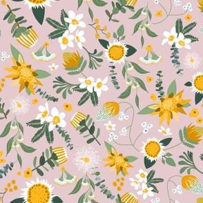 Australian Flora - Yellow and Pink
