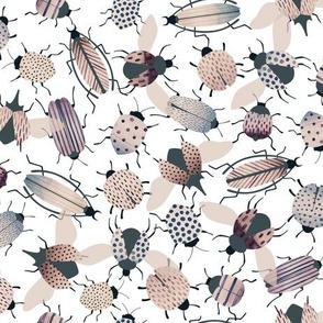 watercolor beetles - muted