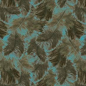 ostrich feather brown
