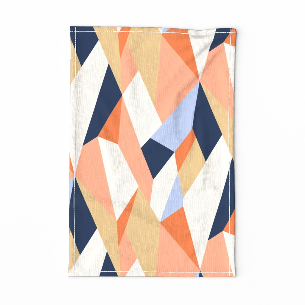 Special Edition Spoonflower Tea Towel featuring Moderne Geometric - Rotated by willowlanetextiles