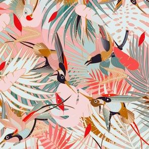 Boho Birds / Bohemian Paradise - Rotated