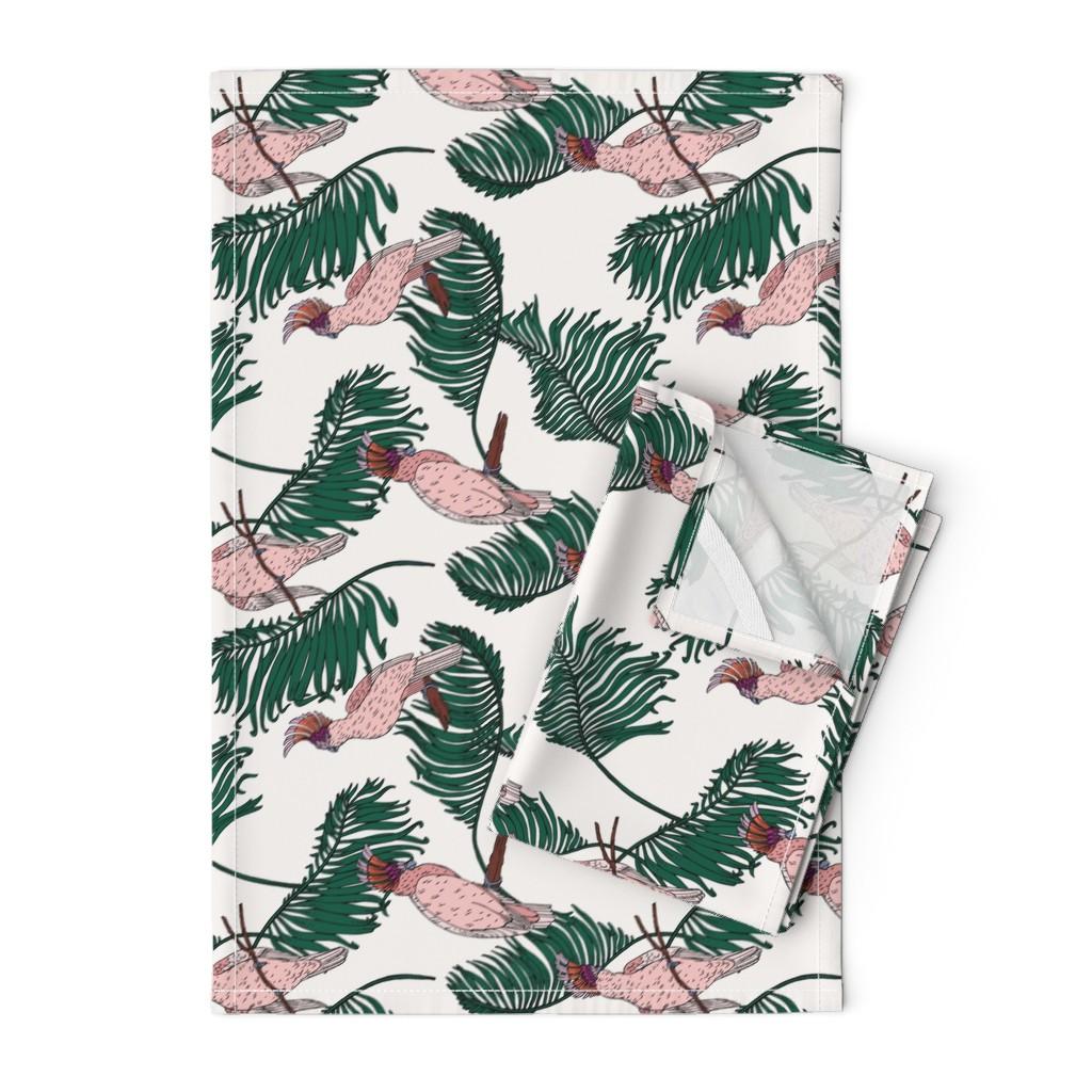 Orpington Tea Towels featuring ORINOCO COCKATOO rotated by holli_zollinger