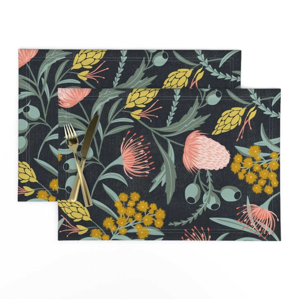Lamona Cloth Placemats featuring Flora Australis - Large Scale by heatherdutton