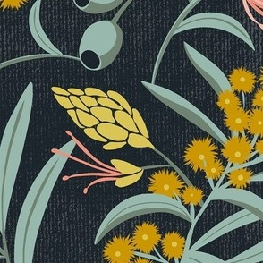 Flora Australis - Dark Floral Botanical Large Scale