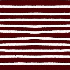 Sketchy Stripes // White on Aggie Red