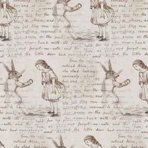 Alice in Wonderland Writing with Rabbit