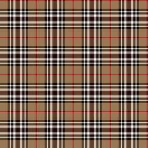 "Southdown tartan - 2"" tan/black/white"