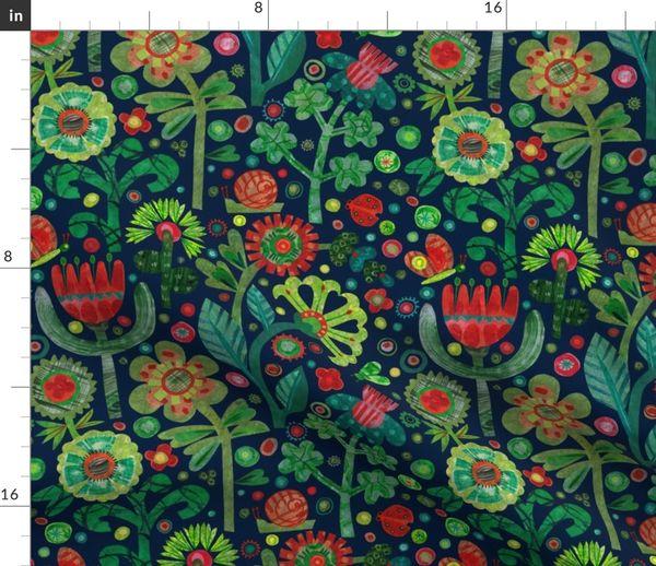 The Night Garden 12 X12 Spoonflower
