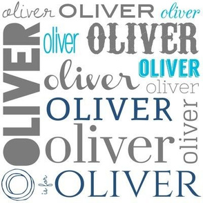 """Personalized """"Oliver"""" in Blues"""