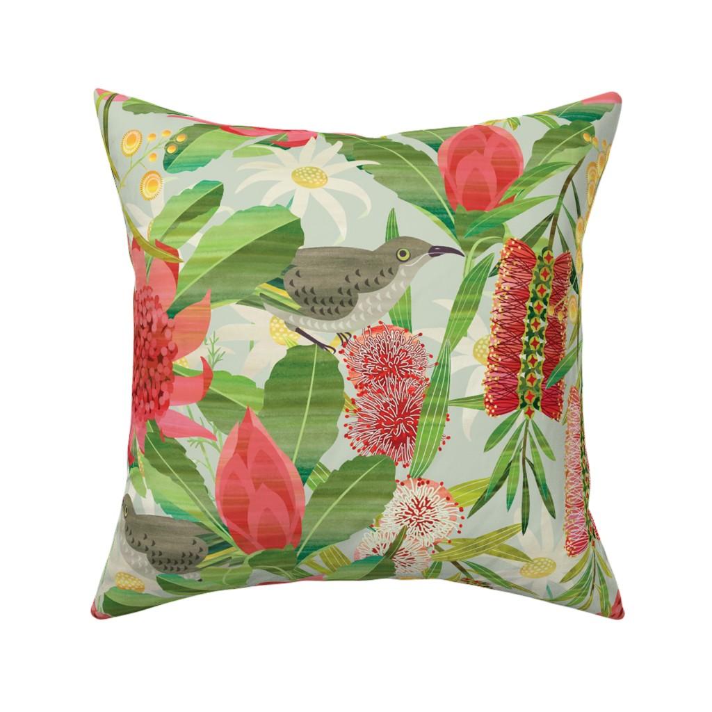 Catalan Throw Pillow featuring Australian floral garden by cjldesigns