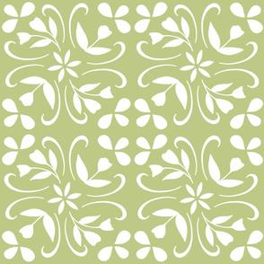 tulip inspired tile in lime