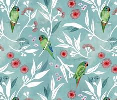 Swift parrots and eucalyptus