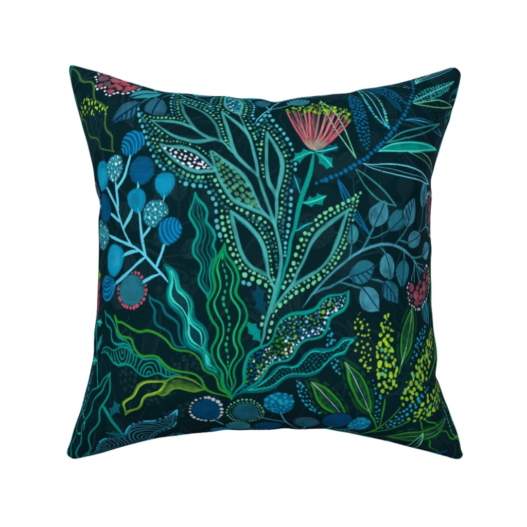 Catalan Throw Pillow featuring Botanical vibes by kostolom3000