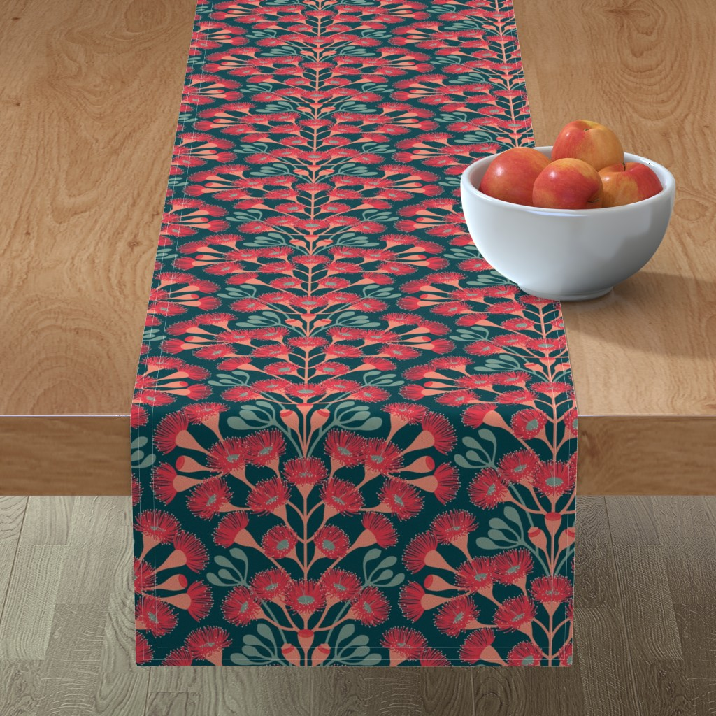 Minorca Table Runner featuring Red Flowered Gum by ekpdesign