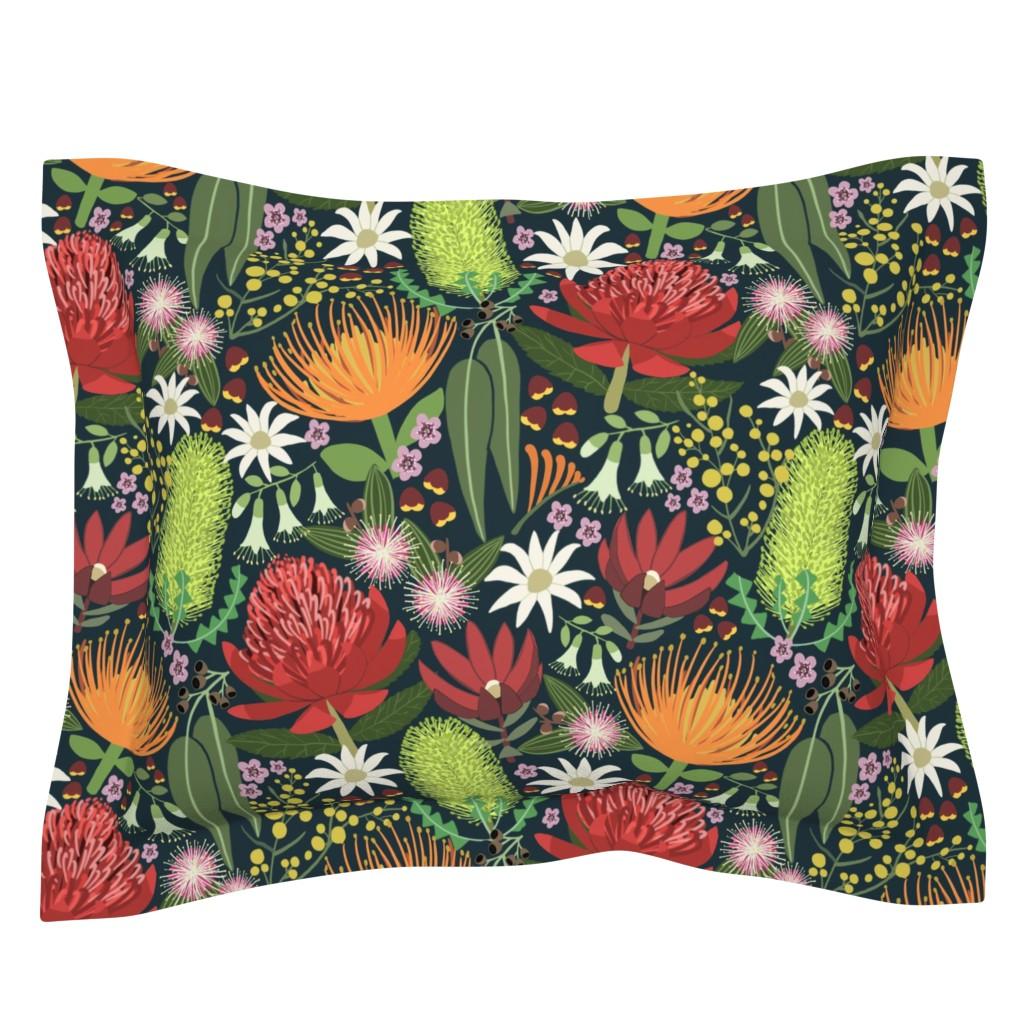 Sebright Pillow Sham featuring My Australian backyard Large by vicki_larner