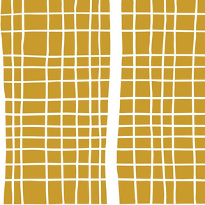 Crossing Lines Pattern in Bold Yellow