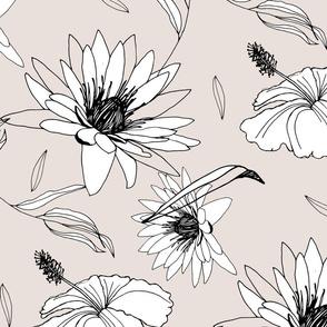 Lineart Handrawn Flowers