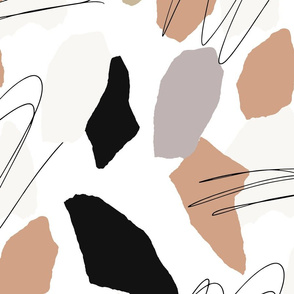 Abstract Shapes and Lines Pattern