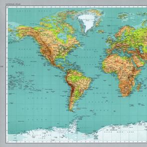 World map, extra-large