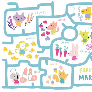 Farmer's market playmat