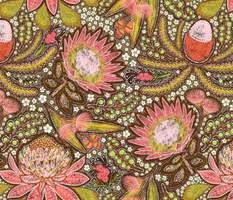 "Tribal Aussie Flowers 18"""
