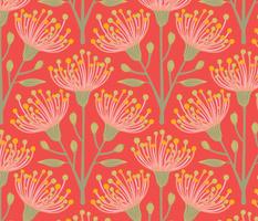 Australian Eucalyptus Pink Orange Green Yellow-LARGE Scale