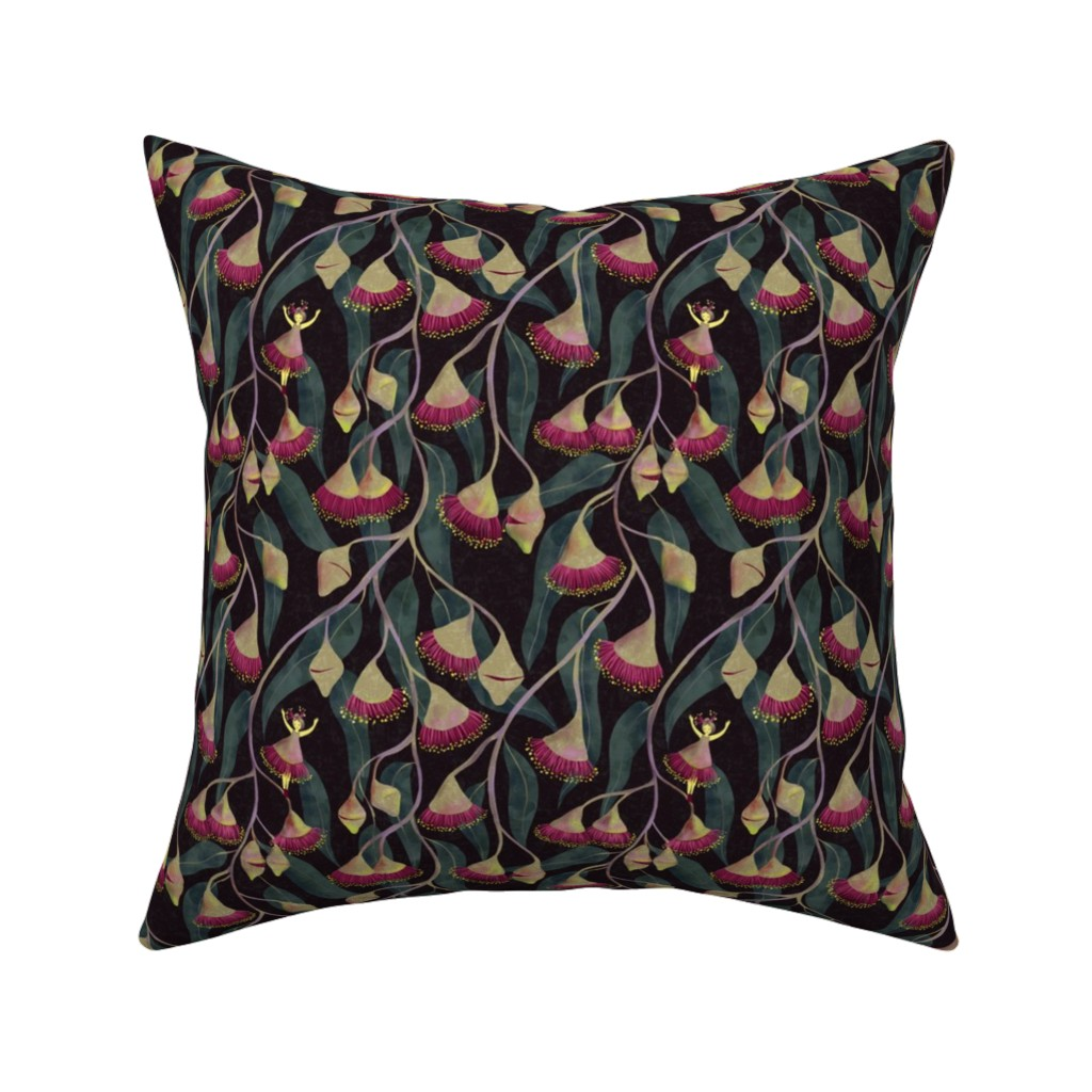 Catalan Throw Pillow featuring Australian flowers by gaiamarfurt