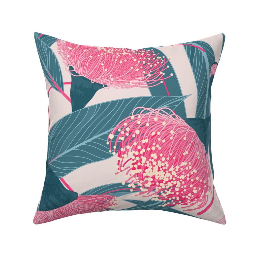 Catalan Throw Pillow featuring Dreamy eucalyptus by doodlena
