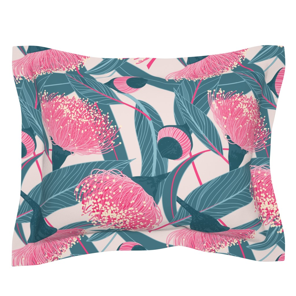 Sebright Pillow Sham featuring Dreamy eucalyptus by doodlena
