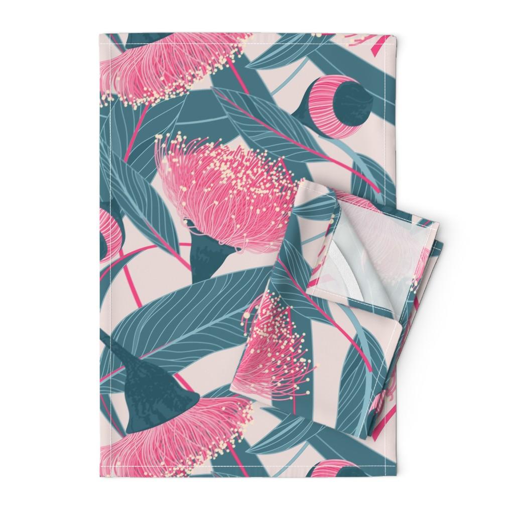 Orpington Tea Towels featuring Dreamy eucalyptus by doodlena