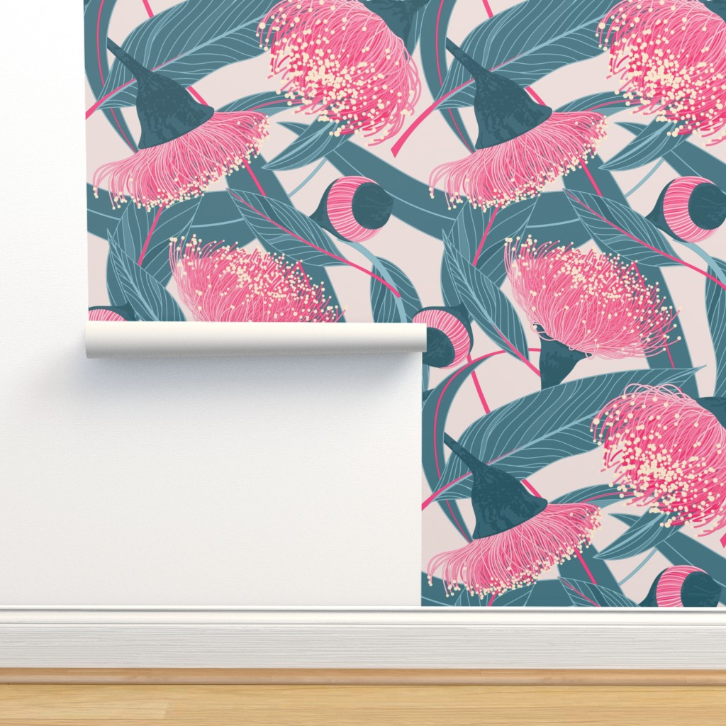 Isobar Durable Wallpaper featuring Dreamy eucalyptus by doodlena