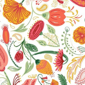 Coral_aussie_floral_%2f%2f_hand_painted_%2b_inked_flowers_inspired_by_australian_flora_%2f%2f_coral%2c_persimmon%2c_marigold%2c_maroon%2c_sage%2c_forest%2c_emerald
