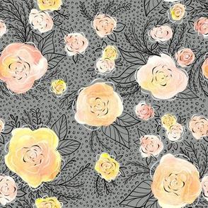rose blooms in pastels
